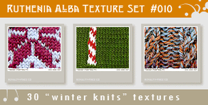 Texture Set 10: Winter Knits by Ruthenia-Alba