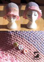 Frilly springtime hat by FeathersOfAnAngel