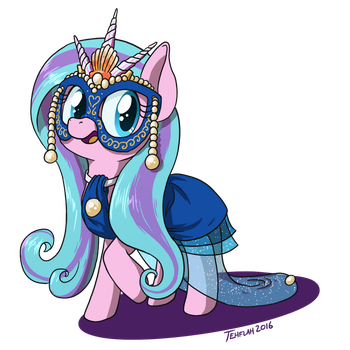 Swirly Shells Masquerade Outfit by tehflah