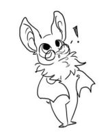 ROSE THE FLYING FOX BAT LINEART BY -PANCAKES- GIFT by DEVIOUS-DISCORD-RP