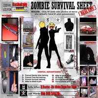 Zombie Survival Sheet by Hashakgig1106