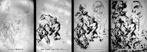X-Men Ink Progression 1 by ChristopherStevens