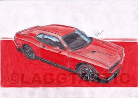 2nd colour drawing_Challenger by Laggtastic