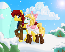 A White Christmas In Ponyville by KaitlynD34