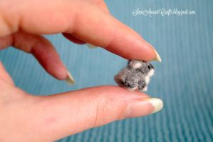 Needle felted miniature baby bunny by SaniAmaniCrafts