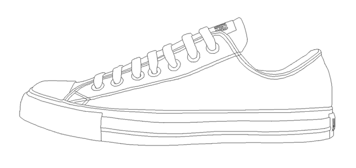Converse ALL STAR low template by katus-nemcu