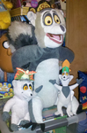 My King Julien plush toys by Edness-Madness