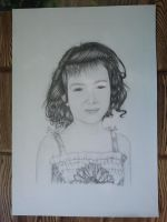Drawing - Little Girl(02) by eduaarti