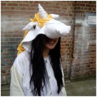 Custom Unicorn Kigurumi Head by diemortalroom