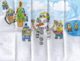 christmas 2014 Minions by Dulcechica19