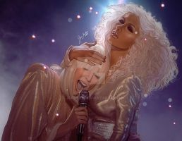Christina Aguilera and Lady Gaga (DWYW) by jardc87