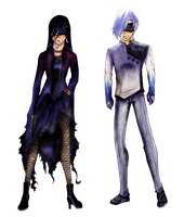 Sean and Kor's masquerade outfits by Sagiterror