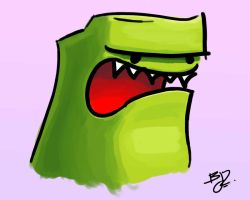The Angry Green Dude... by brontosaurus