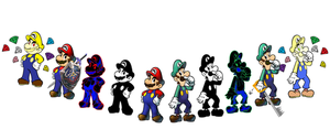 Mario bros rivalry by Mongoosquilax