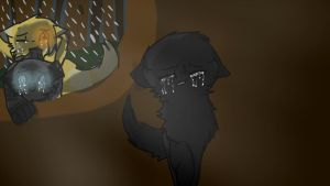 Hollyleaf to the tunnels REDO by FierceKitKat