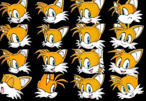 Tails face collection 2D (Complete) by TailsModernStyle