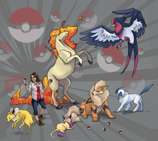 Pokemon Team by KittyNamedAlly