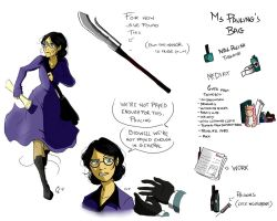 TF2- Forsaken : Ms Pauling studies by camiluna27