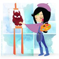 painting candy by Emmeraldelle