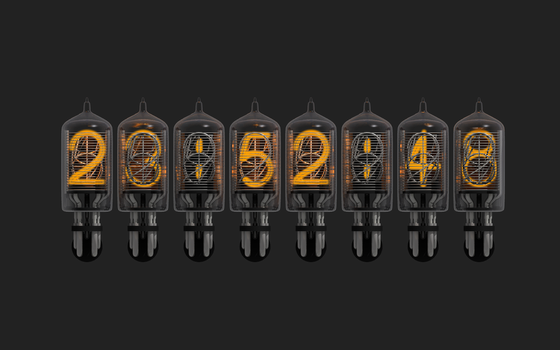 Nixie Numbers by zephyris