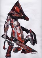 Pyramid Head is out to get you by ryuuza-art