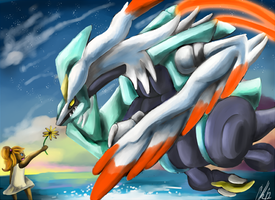 White Kyurem A friend for life by Phatmon66