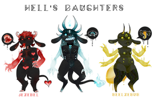Hell's Daughters | Auction [ CLOSED ] by VileBile