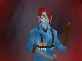 Swapfell Undyne by embracethesadness