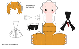 Reborn Gingerbread Papercraft by tsunyandere