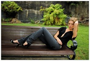 Ingrid - park bench 1 by wildplaces