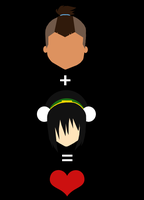 Sokka + Toph = Love by SammyDincht