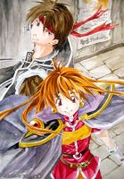Orphen and Lina by yoeah