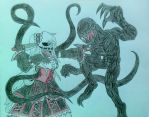 Nighmare Ally vs. Slender Tears by D-ZANY-GOLLUMN