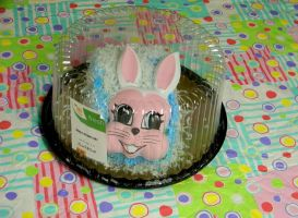 Creepy Easter Cake by dysphoriah
