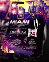 PSD Miami Nights Flyer by retinathemes