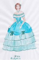 1850s Ballgown by taylor-of-the-phunk