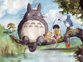 Totoro and friends by axellie