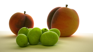 3D - Peaches And Grapes by cytherina