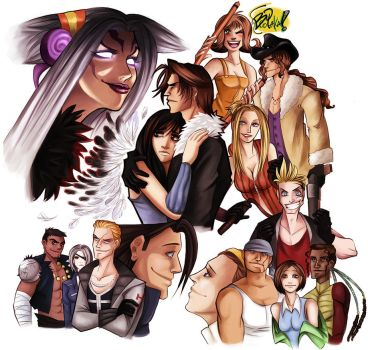 ff8 - 10th anniversary by spoonybards