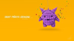 Derp Gengar Pinata by CharlyChive