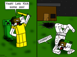 Harvey sucks at minecraft 3 Golden Armor by Cjrocker