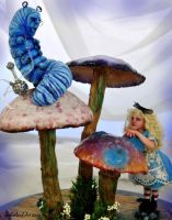 Alice meets Caterpillar by SutherlandArt