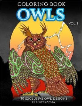 Owl Coloring book by Silver-Ray