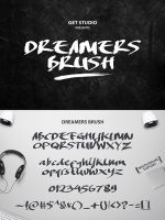 Dreamers Brush Free Font by Designslots