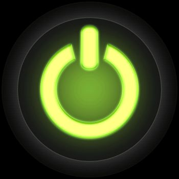 Animation - Glowing on/off button by AarupPhotography