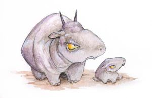 Snoggox and Calf by ursulav
