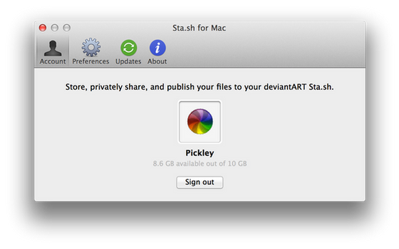 Sta.sh for Mac by Pickley
