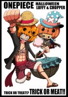 Mugiwaras Halloween Gif. by Narusailor