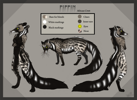 Pippin ref sheet by Krissyfawx