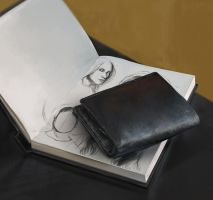 Wallet and Sketchbook by SebastianWagner